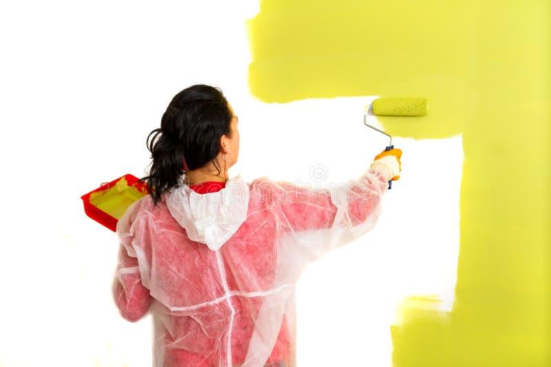 Het schilderen van het huis royalty-vrije stock foto