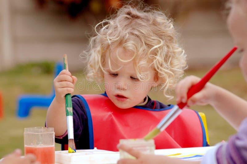 Het schilderen van het kind royalty-vrije stock foto's