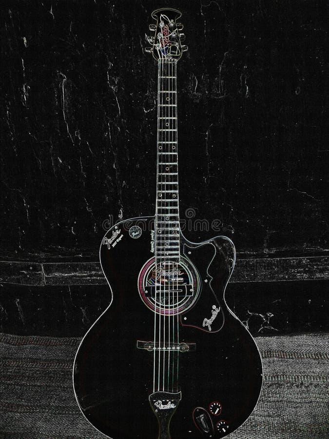 Het schilderen van mijn gitaar royalty-vrije stock fotografie