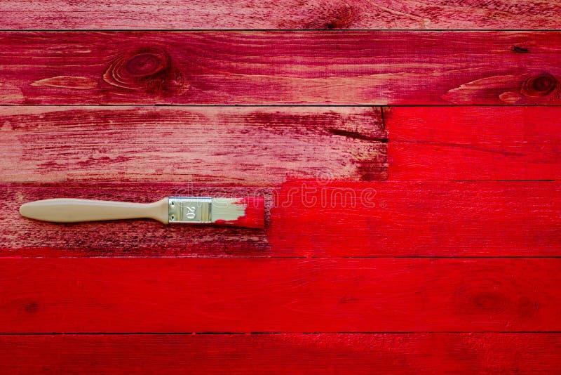 Het schilderen van oude houten planken royalty-vrije stock fotografie