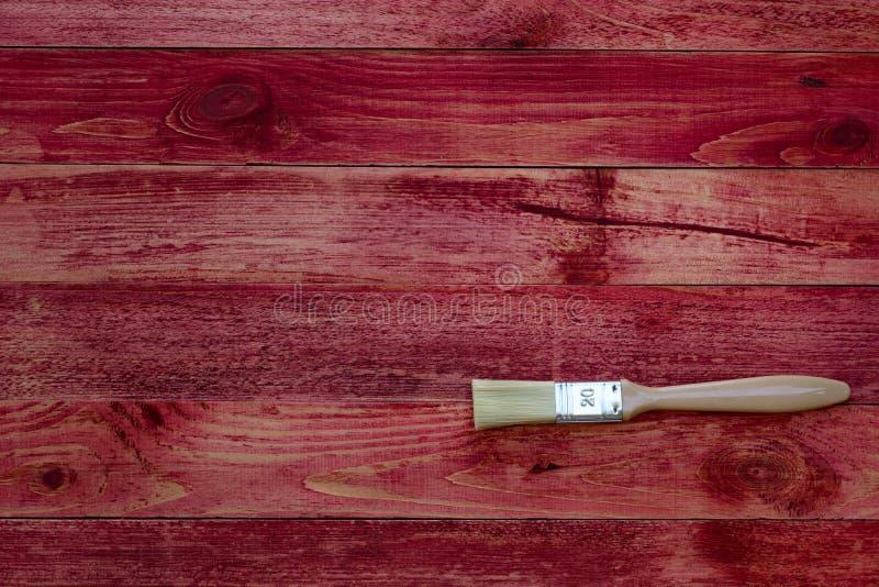 Het schilderen van oude houten planken stock fotografie