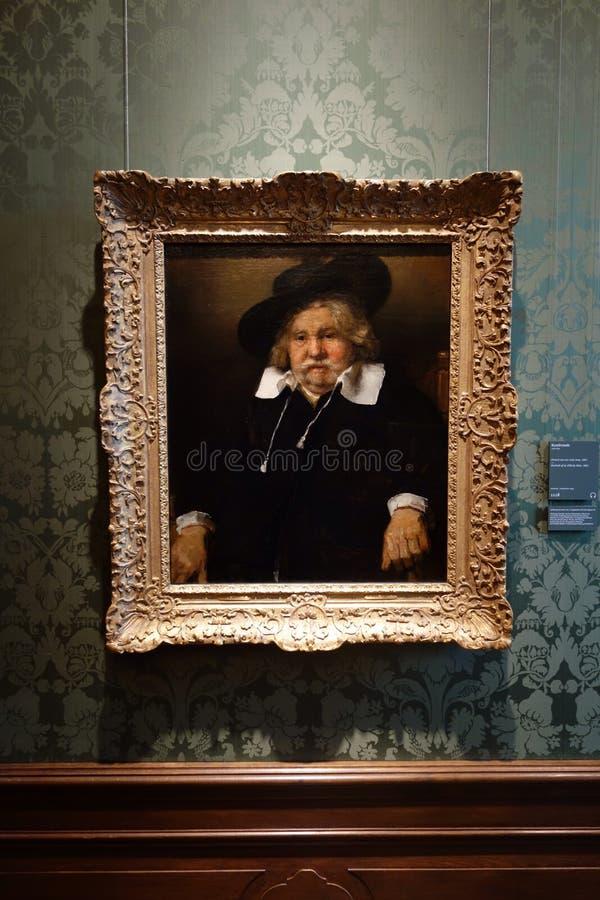 Het schilderen van Rembrandt royalty-vrije stock afbeeldingen