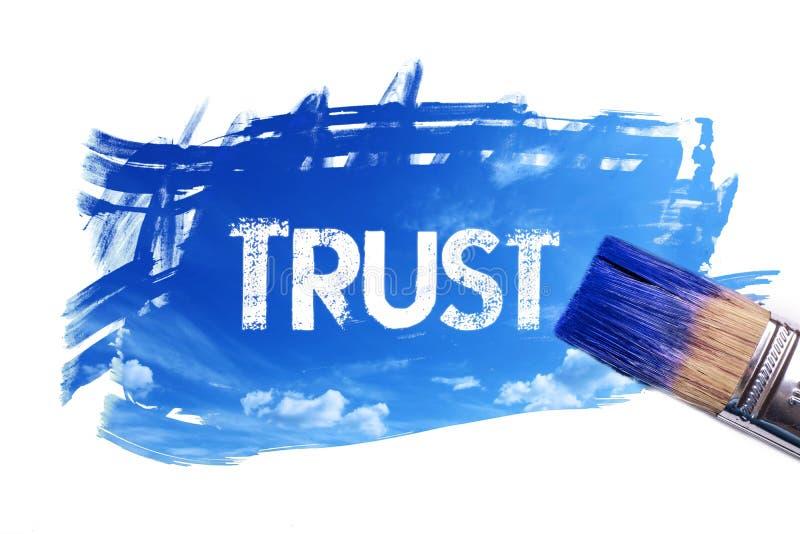 Het schilderen vertrouwenswoord royalty-vrije illustratie