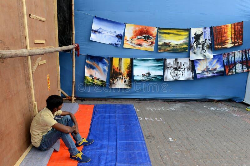 Het schilderen voor verkoop royalty-vrije stock afbeelding