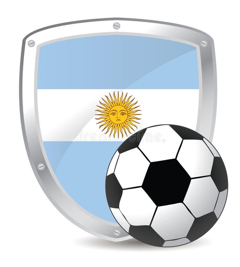 Het schildvoetbal van Argentinië stock illustratie
