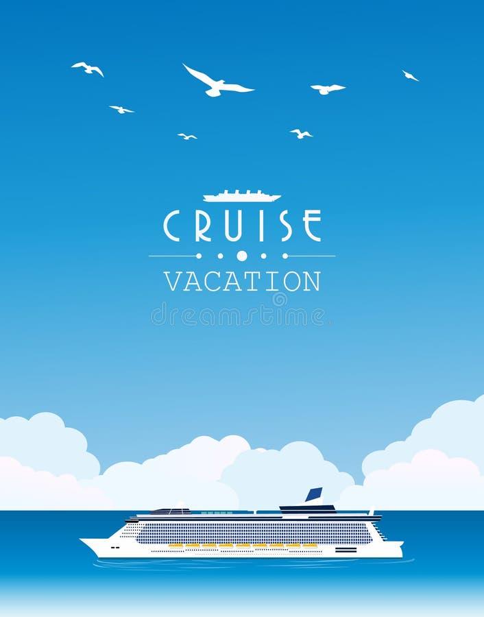 Het schip Costa Luminosa van de cruise vector illustratie