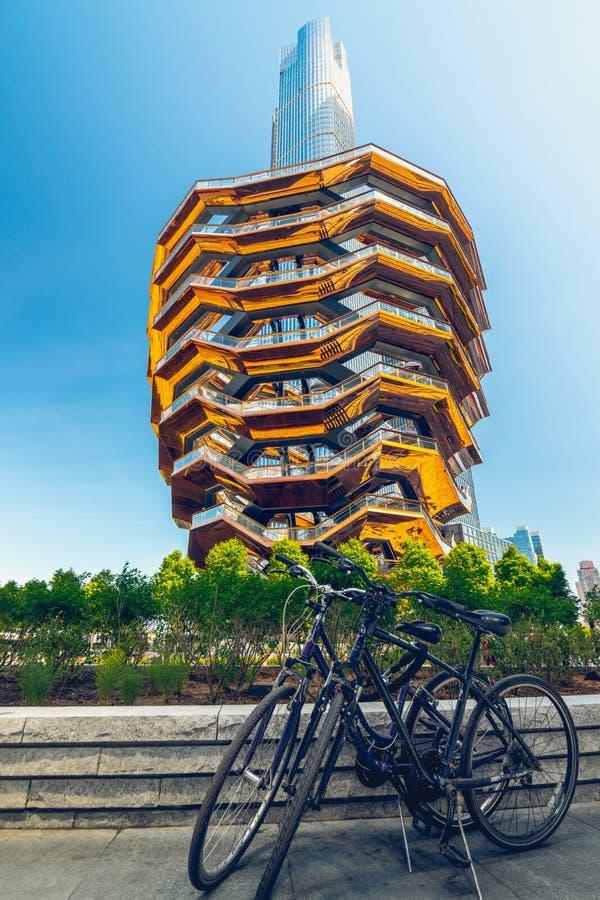 Het Schip, Moderne Bouw, Belangrijkst voorwerp van Hudson Yards, de Stad van New York stock afbeelding