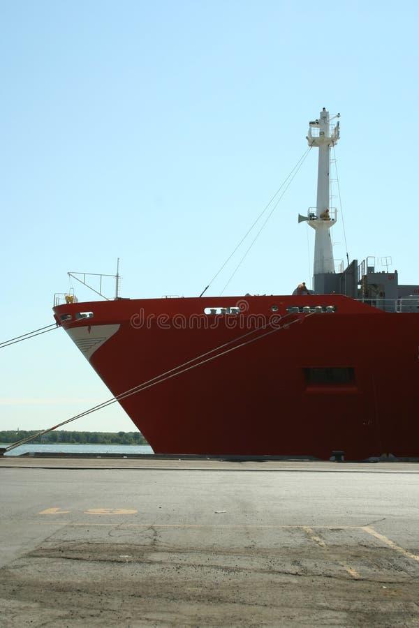 Het Schip van de container bij Dok royalty-vrije stock foto