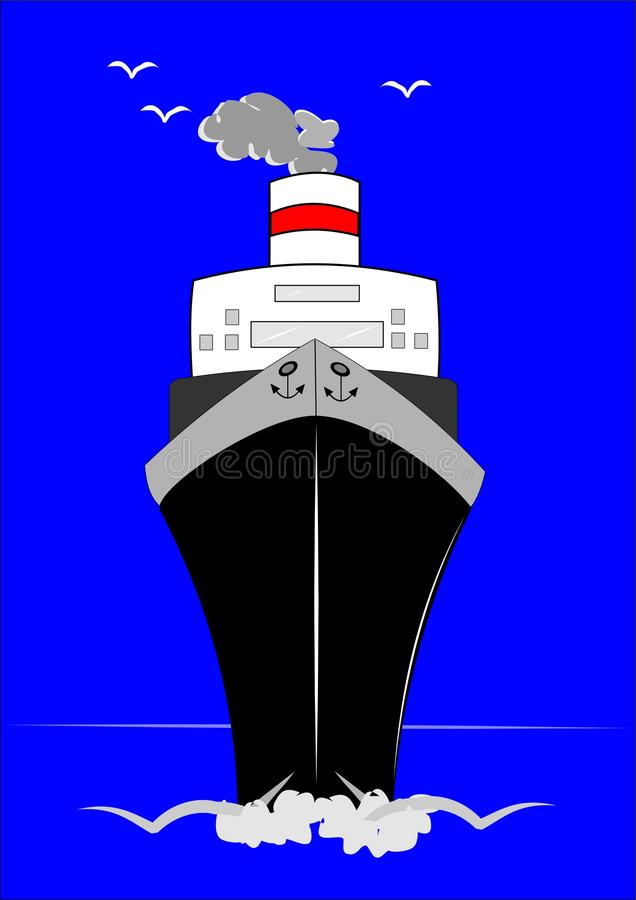 Het schip van de cruise vector illustratie