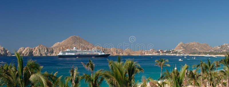 Het Schip van de cruise in Cabo San Lucas stock afbeelding