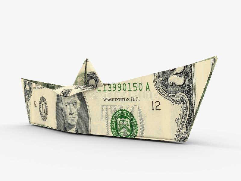 Het schip van de dollar royalty-vrije illustratie