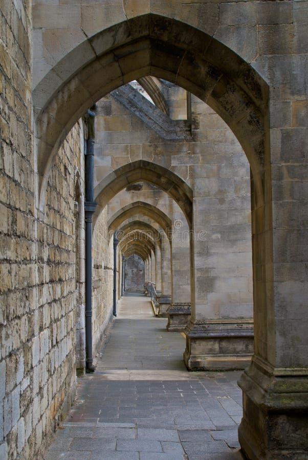 Het Schip van de Kathedraal van Winchester steunt royalty-vrije stock fotografie