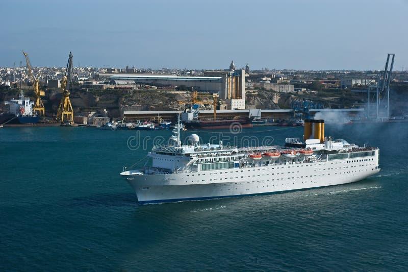 Het schip van de luxe in Valletta royalty-vrije stock afbeelding