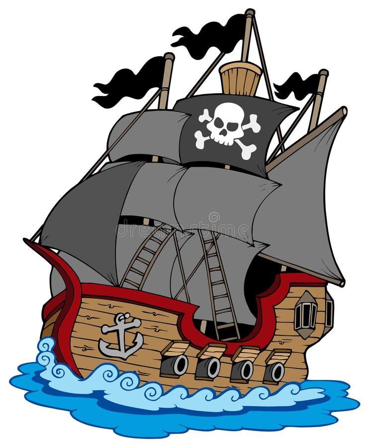Het schip van de piraat stock illustratie