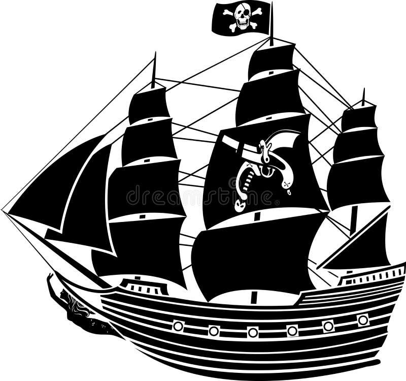 Het schip van de piraat royalty-vrije illustratie