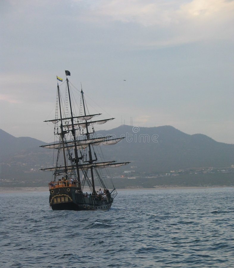 Het Schip van de piraat royalty-vrije stock afbeeldingen