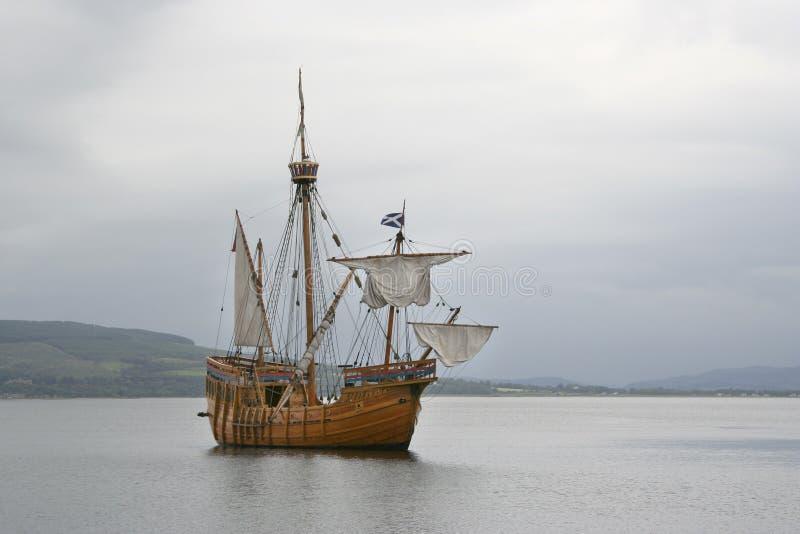 Het schip van de replica royalty-vrije stock foto's