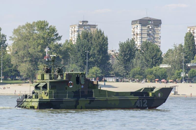 Het schip van de rivieraanval royalty-vrije stock fotografie