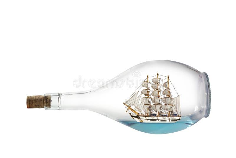 Het schip van het zeildoek in fles royalty-vrije stock foto