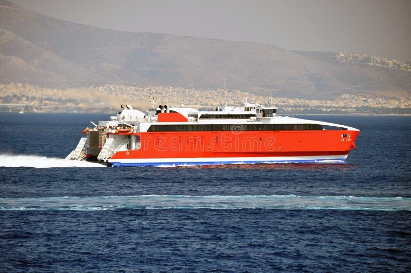 Het schip van Hispeed royalty-vrije stock fotografie