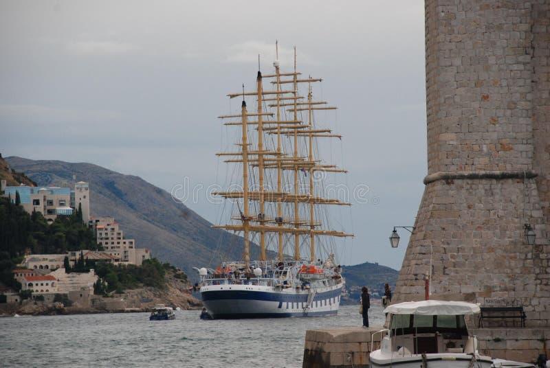 Het schip van Kroatië royalty-vrije stock foto's