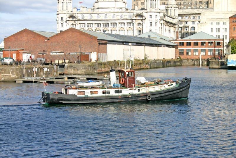 Het Schip van Liverpool in Dok stock foto's