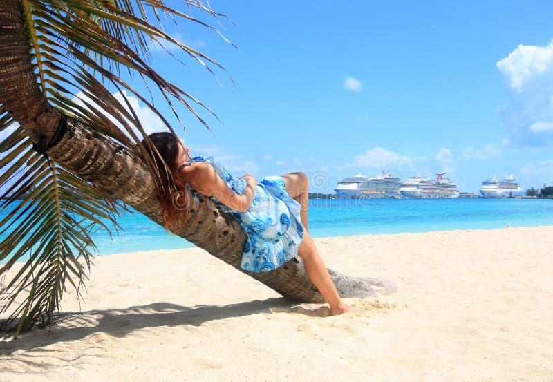 Het schipbestemming van de cruise royalty-vrije stock foto's