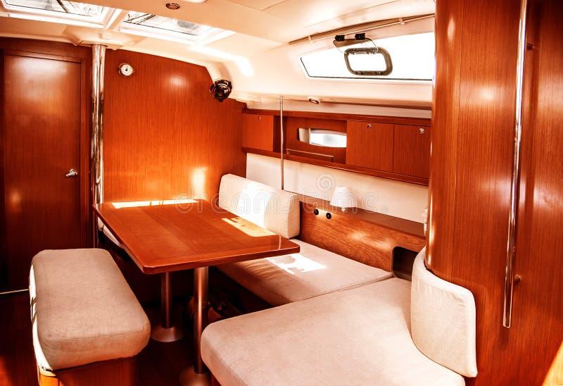 Het schipbinnenland van de luxe stock afbeeldingen