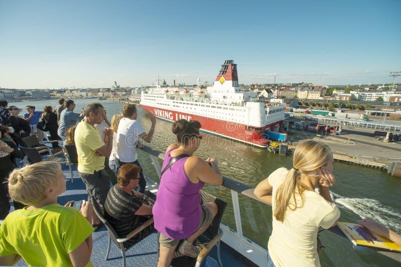 Het schippassangers van de cruise stock afbeelding