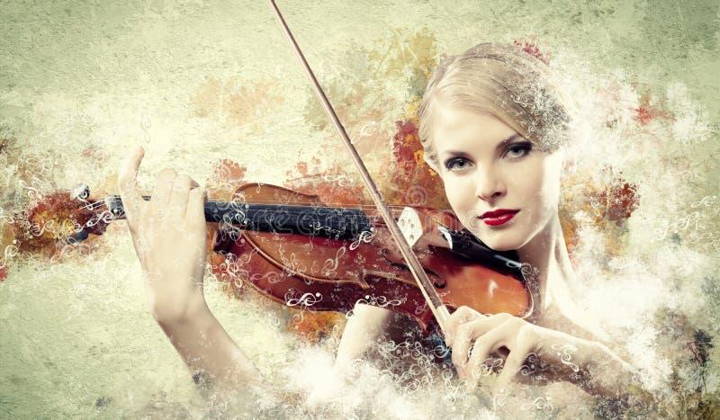 Download Het Schitterende Vrouw Spelen Op Viool Stock Foto - Afbeelding bestaande uit muzikaal, vaag: 29511546