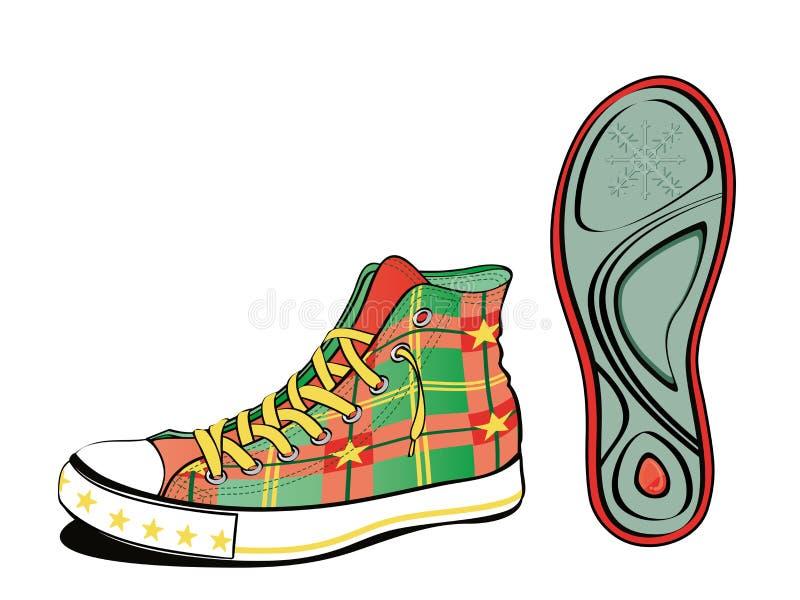 Het schoeisel van Kerstmis vector illustratie
