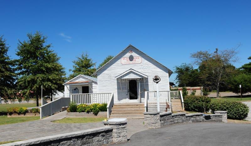 Het schoolgebouw van het Flaggbosje in Tina Turner Museum, Brownsville, Tennessee stock afbeeldingen