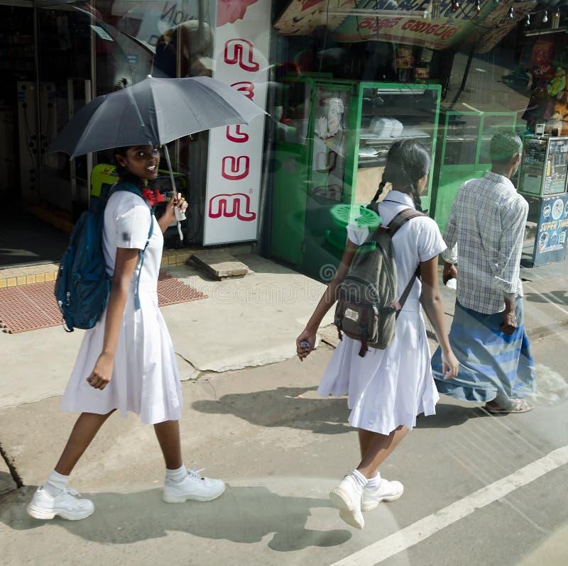 Het schoolmeisje van Srilankan royalty-vrije stock foto