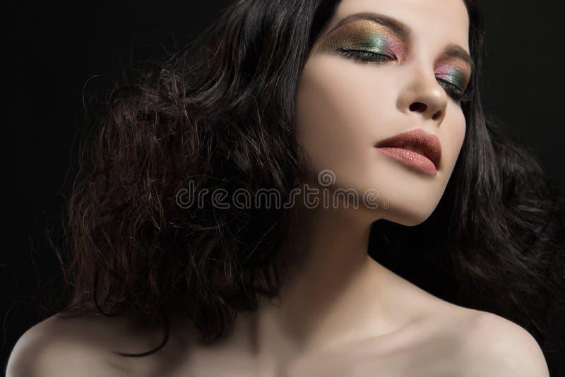 Het schoonheidsgezicht maakt omhoog meisje stock afbeelding