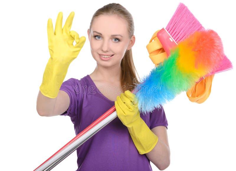Het schoonmaken stock afbeelding