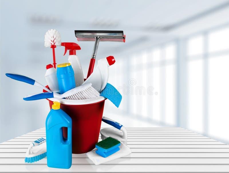 Het schoonmaken stock fotografie
