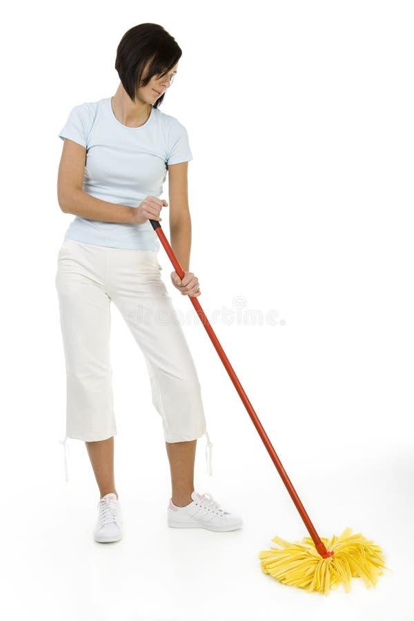 Het schoonmaken van de vloer stock afbeelding