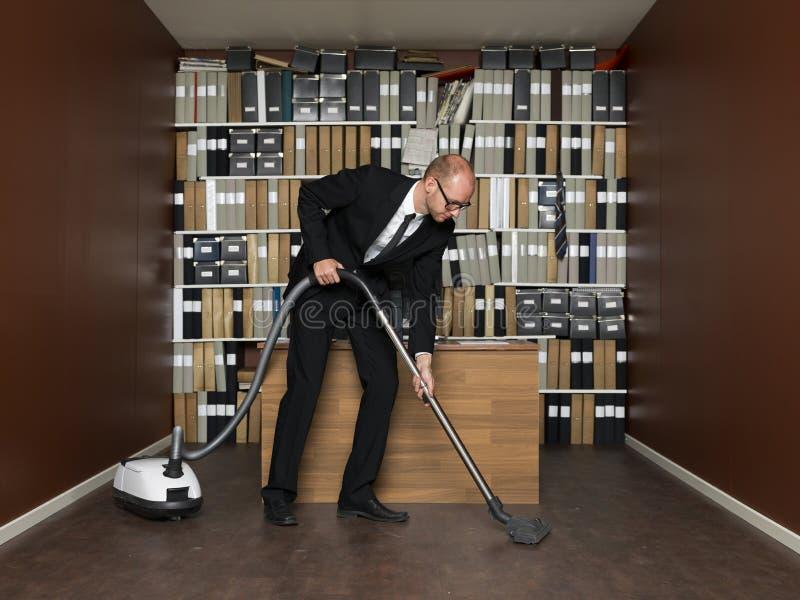 Het schoonmaken van het bureau royalty-vrije stock afbeelding