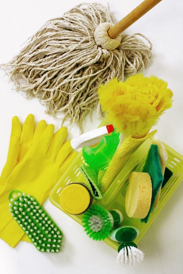 Het schoonmaken van hulpmiddelen stock fotografie