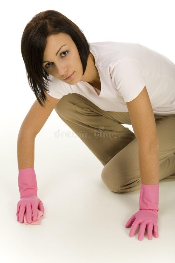 Het schoonmaken van vloer stock fotografie