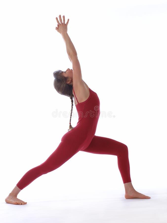 Het Schot van de Studio van de yoga royalty-vrije stock afbeelding