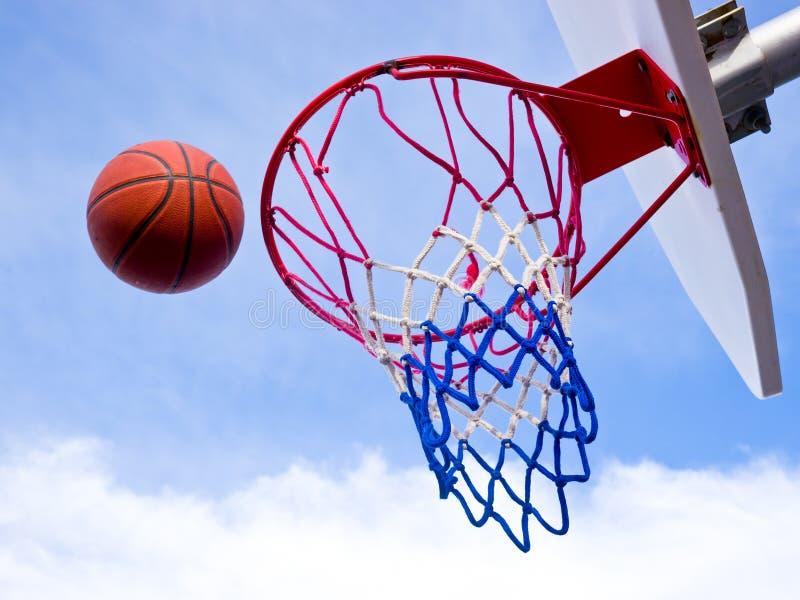 Het schot van het basketbal stock foto