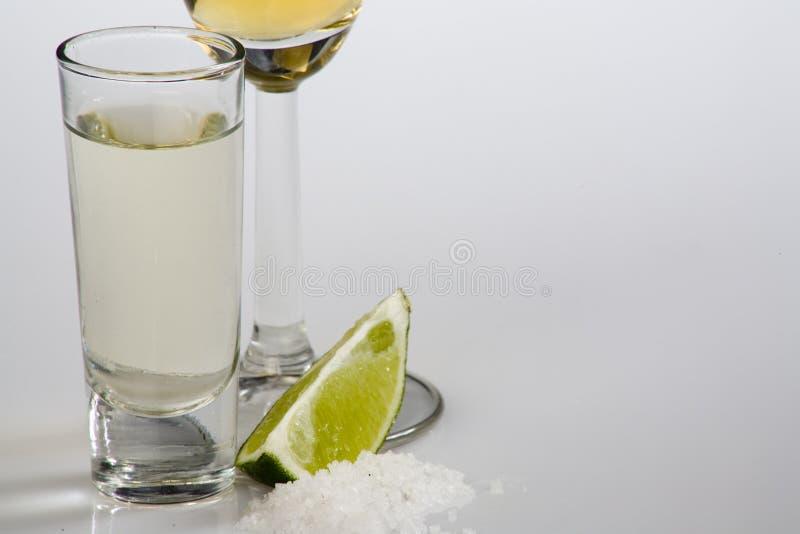 Het schot van Tequila stock afbeeldingen