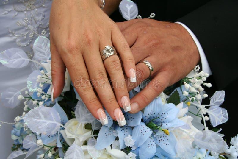 Het Schot van trouwringen royalty-vrije stock fotografie