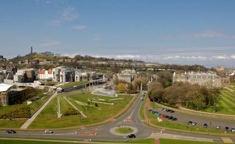 Het Schots Parlement en Huis Holyrood royalty-vrije stock foto