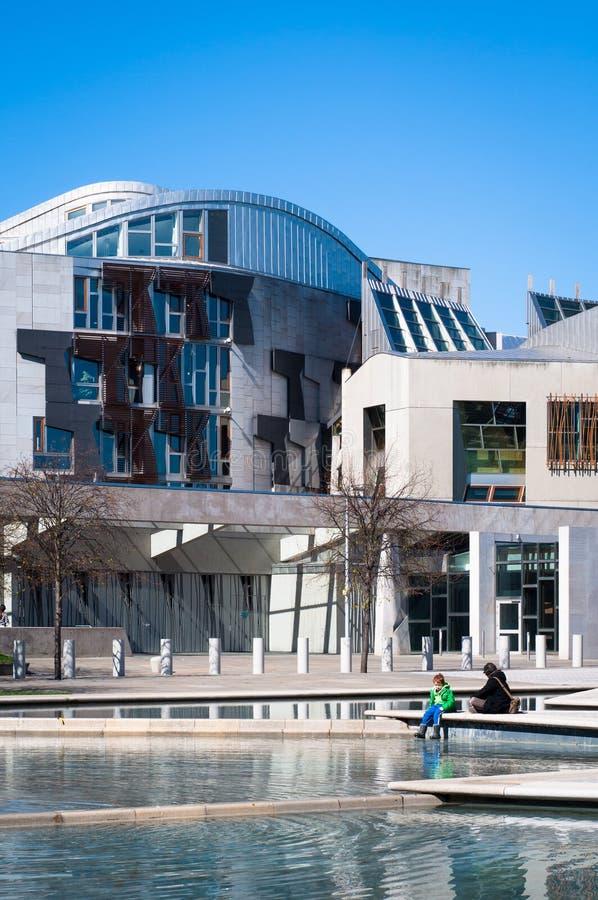 Het Schotse Parlement, Holyrood, Edinburgh stock fotografie