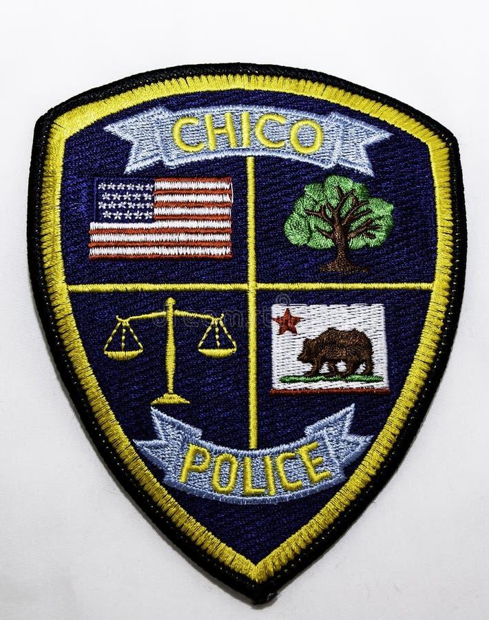 Het schouderflard van Chico Police Department in Californië stock foto's