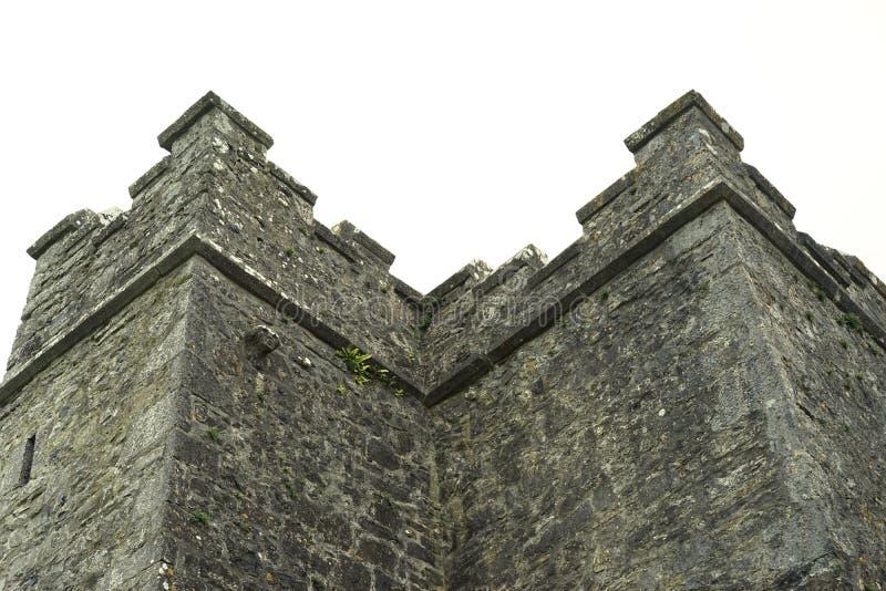 Het schrapen van de het verbieden kasteelmuren stock foto