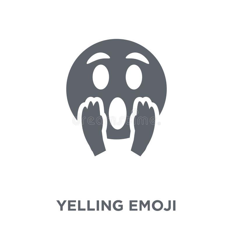 Het schreeuwen emojipictogram van Emoji-inzameling stock illustratie