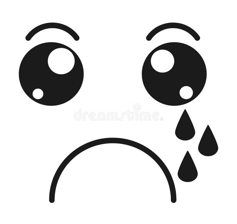 het schreeuwen, ontwerp van het gezichts emoticon het geïsoleerde pictogram stock illustratie